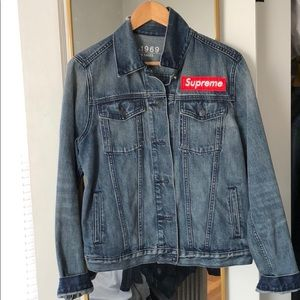 GAP Denim Jean Jacket with SUPREME Patch